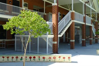 Custompowder coatedbalustradesandhandrailsschoolfencing